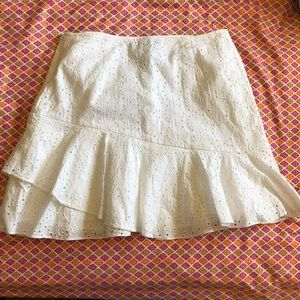 NWT Banana Republic Eyelet Ruffle Skirt